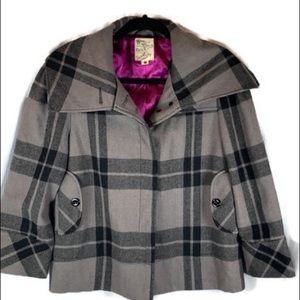 Tulle Gray Plaid Jacket